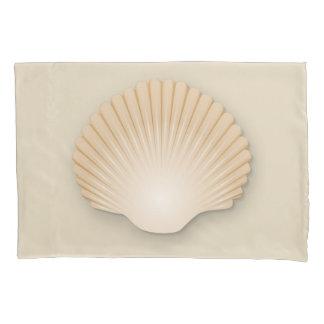 Beachy Tan Scalloped Seashell Pillowcase