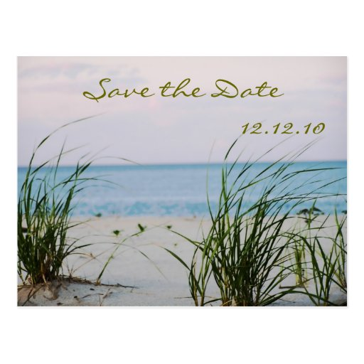 Beachy Wedding  - Save the Date Card Post Cards