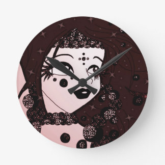 Bead Beauty Round Clock