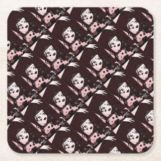 Bead Beauty Square Paper Coaster
