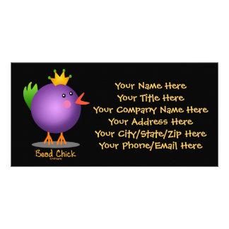 Bead Chick - Purple Customised Photo Card