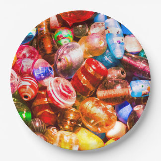 Bead Pile Paper Plate