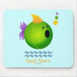 Bead Shark - Green Mouse Mats
