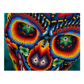 Bead Skull Eyes Postcard