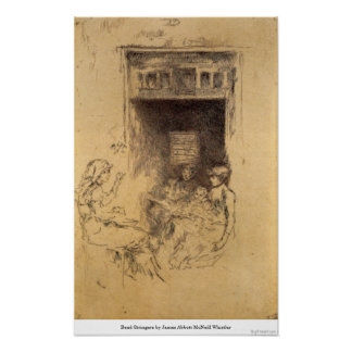 Bead Stringers by James Abbott McNeill Whistler Poster