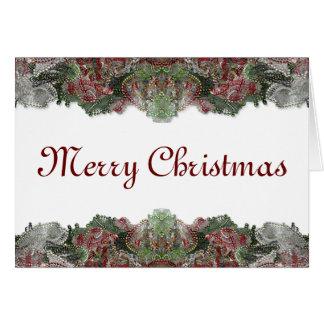 Beaded Christmas Card