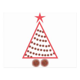 Beaded Christmas Tree Postcard