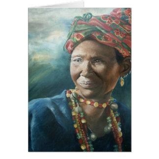 Beaded Dogon Woman Card