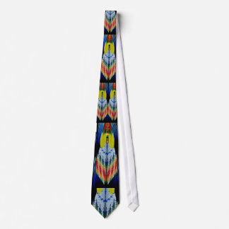 Beaded Feather Design Tie