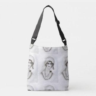Beaded Flapper Girl Crossbody Bag