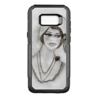 Beaded Flapper Girl OtterBox Commuter Samsung Galaxy S8+ Case