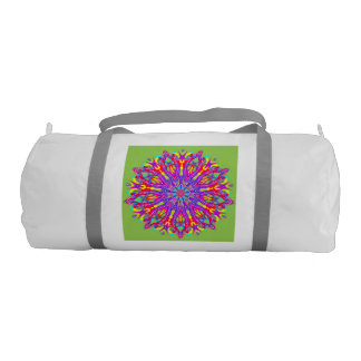 Beaded glamor mandala gym duffel bag