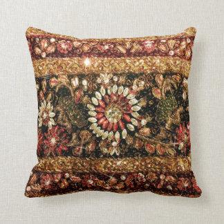 Beaded Indian Saree Photo Cushion