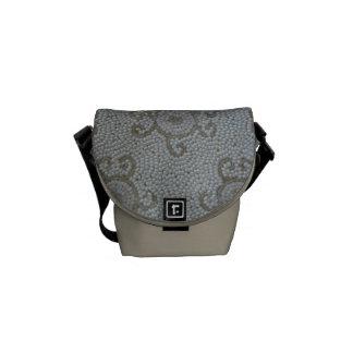 Beaded-look Messenger Bags