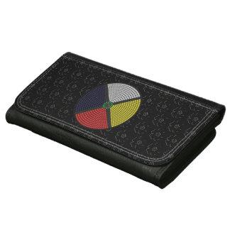 Beaded Medicine Wheel Leather Wallets