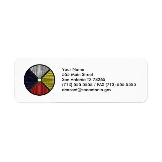 Beaded Medicine Wheel Return Address Label