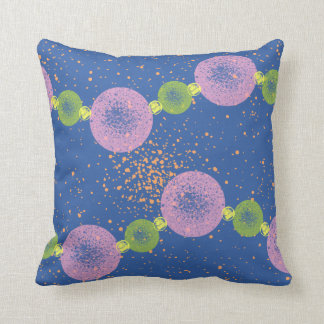 Beaded Planets Blue Cushion