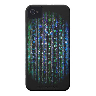 Beaded print Blackberry Bold case, blue, green Case-Mate iPhone 4 Case