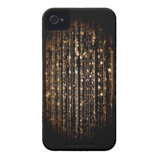 Beaded print Blackberry Bold case, gold on black iPhone 4 Covers