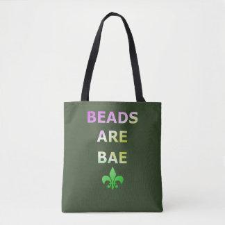 Beads Are Bae Mardi Gras Fleur De Lis Tote