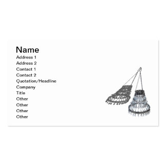 Beads Leaves Chandelier Pack Of Standard Business Cards