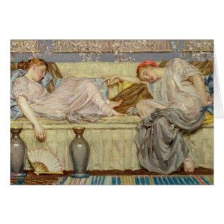 Beads (study), c.1875 (oil on canvas) card