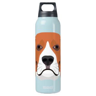 Beagle01_01_B_Quadrat.ai Insulated Water Bottle