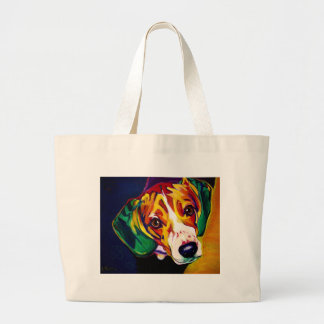 Beagle #5 large tote bag