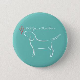 Beagle 6 Cm Round Badge