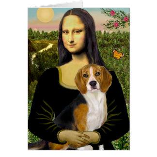 Beagle 7 - Mona Lisa Card
