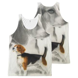 Beagle All-Over Print Tank Top