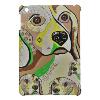 Beagle and Babies Brown Tones Case For The iPad Mini
