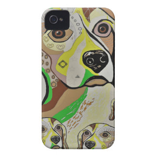 Beagle and Babies Brown Tones iPhone 4 Case