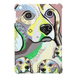 Beagle and Babies Soft Color Palette Cover For The iPad Mini