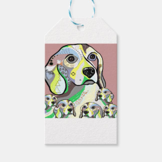 Beagle and Babies Soft Color Palette Gift Tags