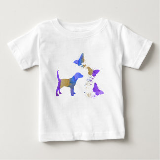 Beagle And Butterflies Baby T-Shirt