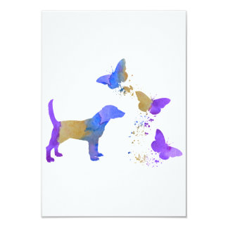 Beagle And Butterflies Card