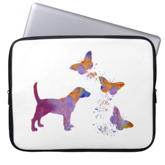 Beagle And Butterflies Laptop Sleeve