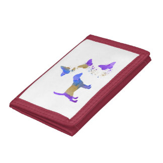 Beagle And Butterflies Trifold Wallets