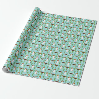Beagle and cactus wrapping paper roll