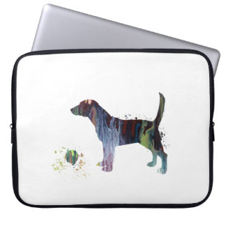 Beagle and toy laptop sleeve