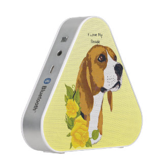 Beagle and Yellow Roses - bluetooth