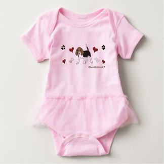beagle baby bodysuit