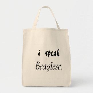 Beagle Bark - I Speak Beaglese Tote Bag