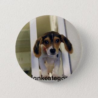 beagle, blankcategory 6 cm round badge