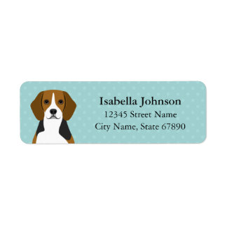 Beagle Blue Return Address Label