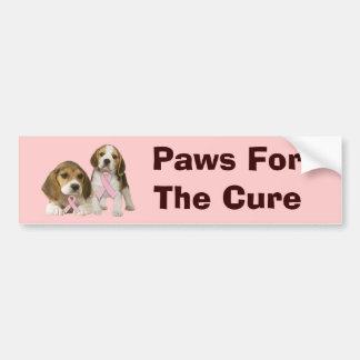 Beagle Breast Cancer Bumper Sticker