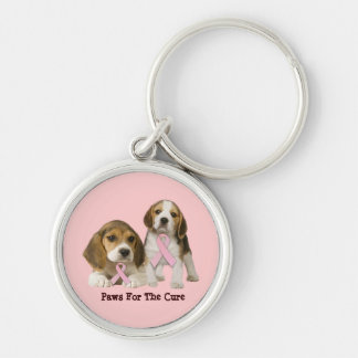 Beagle Breast Cancer Keychain