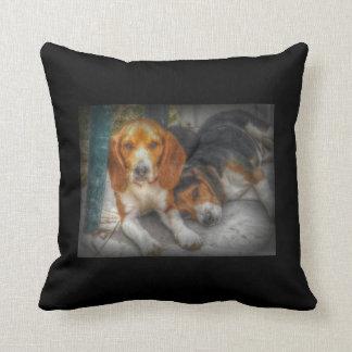 Beagle Brothers Throw Pillow