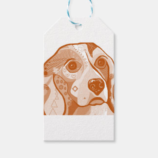 Beagle Brown Tones Gift Tags